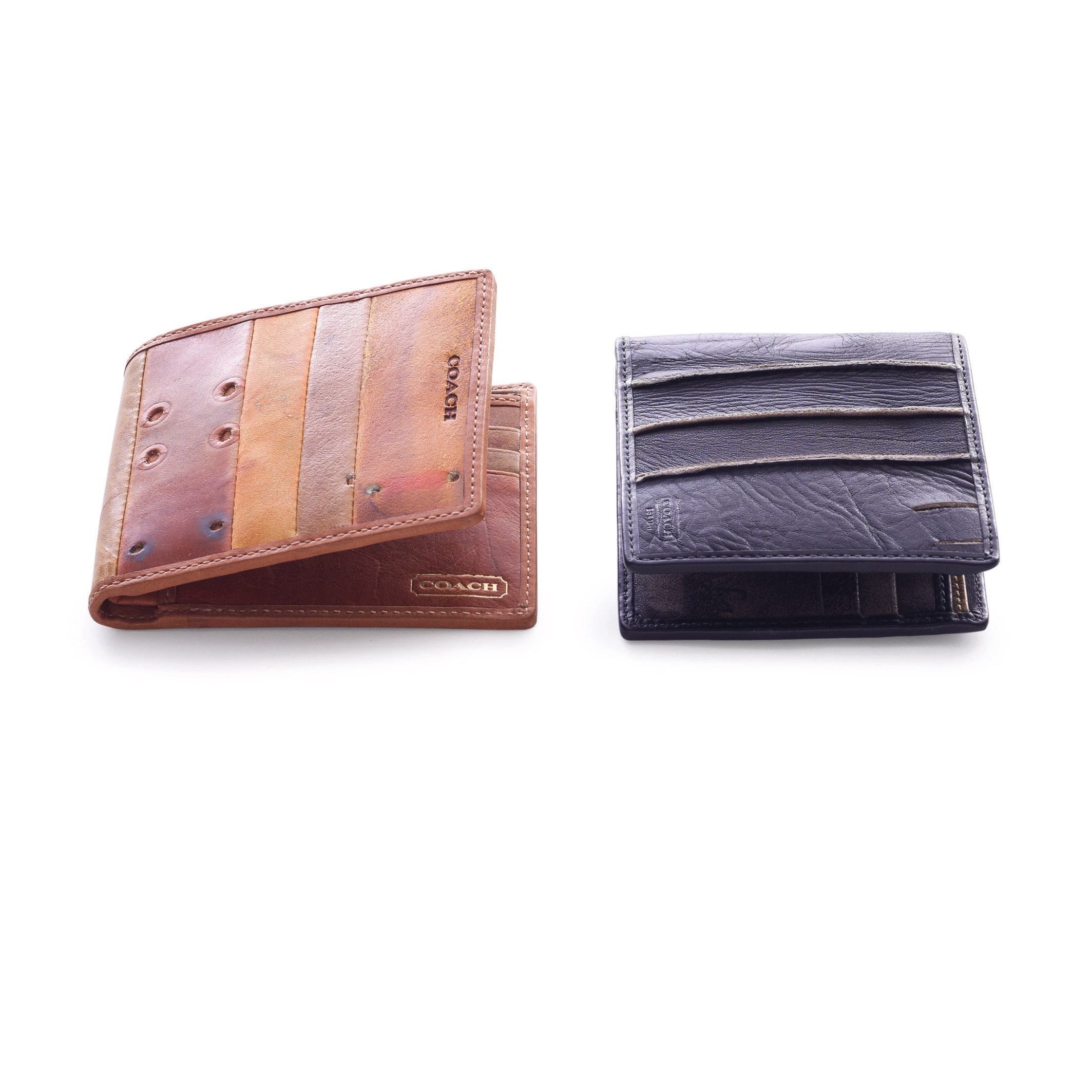 Recycled baseball glove wallet - Dimaggio May Have Hit One Past This Wallet